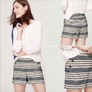LOFT The Riviera Striped Sailor Style Shorts
